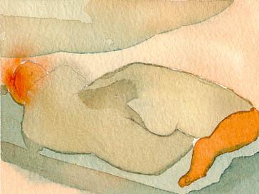 liggande orange
