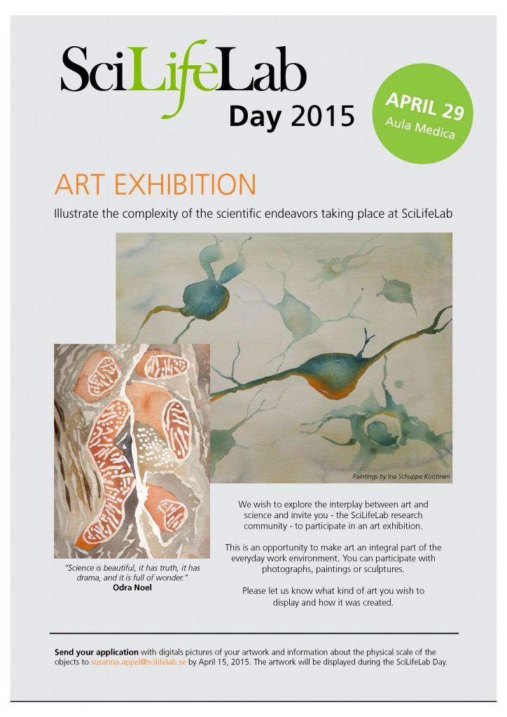 Art exhibition SciLifeLab Day